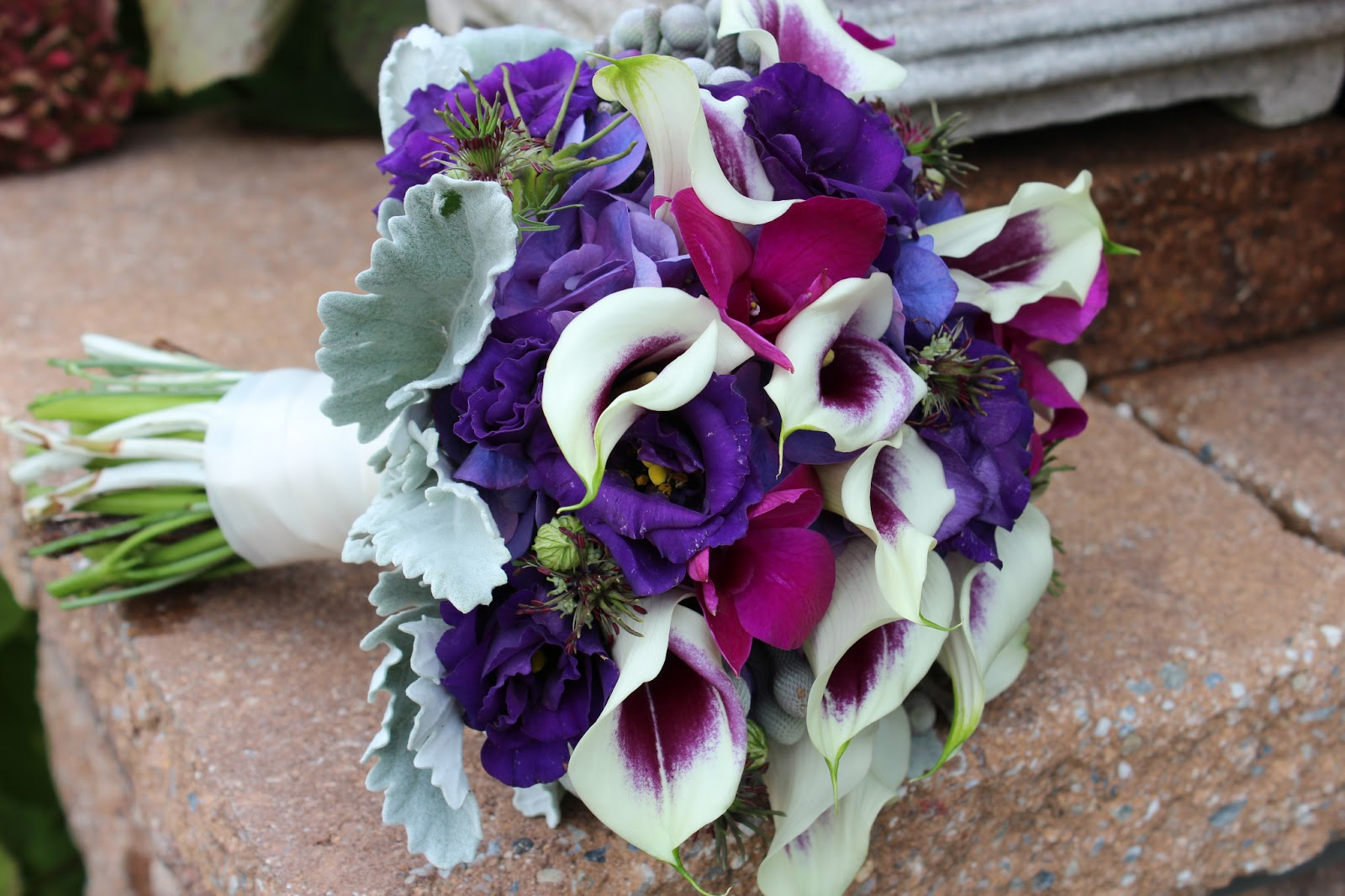 Plum and pewter wedding